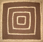 Baby Brown Square Hand Made Afghan