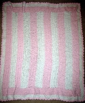 Baby Pink & White Hand Made Afghan