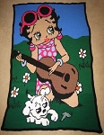 Betty Boop Guitar Hand Made Afghan