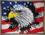 Eagle In The Flag Hand Made Afghan