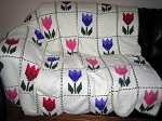 Beautiful Tulip Hand Made Afghan