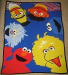 Sesame Street Our Group Hand Made Afghan