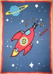 Rocket Ship Hand Made Afghan