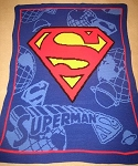 Superman Hand Made Afghan
