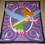 Tinkerbell Picture Hand Made Afghan