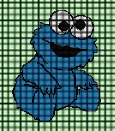 Baby Cookie Monster Crochet Pattern Cgct 103280