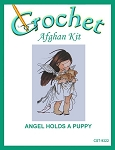 Angel Holds A Puppy Crochet Afghan Kit