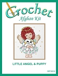 Little Angel & Puppy Crochet Afghan Kit