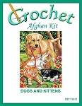 Dogs And Kittens Crochet Afghan Kit