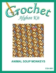 Animal Soup Monkeys Crochet Afghan Kit