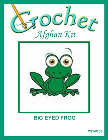 Big Eyed Frog Crochet Afghan Kit