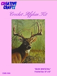 Buck Whitetail Crochet Afghan Kit