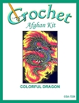 Colorful Dragon Crochet Afghan Kit