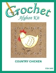 Country Chicken Crochet Afghan Kit