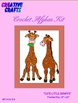 Cute Little Giraffe Crochet Afghan Kit