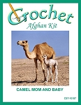Camel Mom And Baby Crochet Afghan Kit