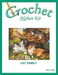 Cat Family Crochet Afghan Kit