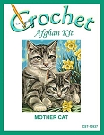 Mother Cat Crochet Afghan Kit
