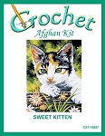 Sweet Kitten Crochet Afghan Kit