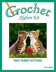 Two Tabby Kittens Crochet Afghan Kit