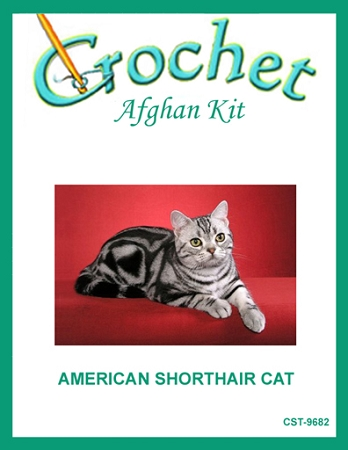 American Shorthair Cat Crochet Afghan Kit
