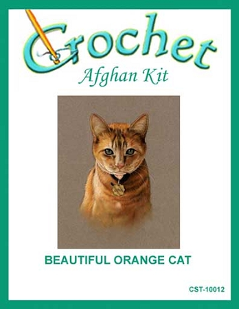 Beautiful Orange Cat Crochet Afghan Kit