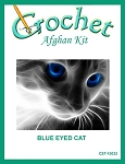 Blue Eyed Cat Crochet Afghan Kit