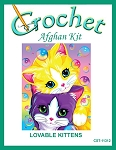Lovable Kittens Crochet Afghan Kit