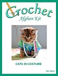 Cats In Costume Crochet Afghan Kit