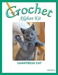 Chartreux Cat Crochet Afghan Kit