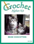 Main Coon Kittens Crochet Afghan Kit