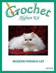Modern Persian Cat Crochet Afghan Kit