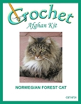 Norwegian Forest Cat Crochet Afghan Kit