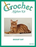 Ocicat Cat Crochet Afghan Kit