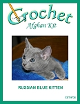 Russian Blue Kitten Crochet Afghan Kit