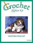 Scottish Fold Cat Crochet Afghan Kit