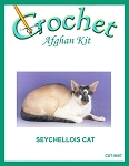 Seychellois Cat Crochet Afghan Kit