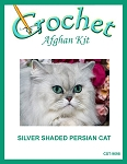 Silver Shaded Persian Cat Crochet Afghan Kit