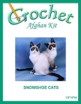 Snowshoe Cats Crochet Afghan Kit