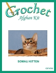 Somali Kitten Crochet Afghan Kit