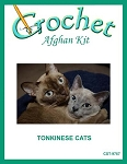 Tonkinese Cats Crochet Afghan Kit