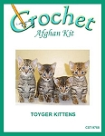 Toyger Kittens Crochet Afghan Kit