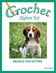 Beagle Pup Sitting Crochet Afghan Kit
