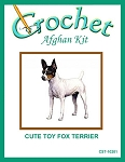 Cute Toy Fox Terrier Crochet Afghan Kit