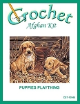 Puppies Plaything Crochet Afghan Kit