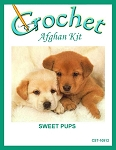 Sweet Pups Crochet Afghan Kit