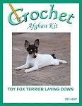 Toy Fox Terrier Laying Down Crochet Afghan Kit