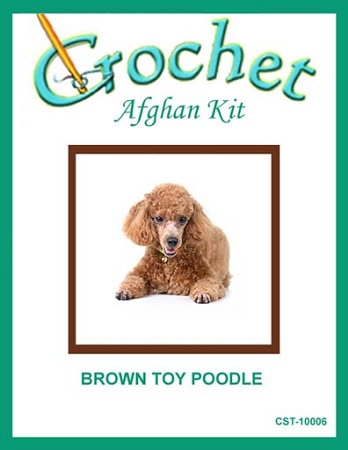 Brown Toy Poodle Crochet Afghan Kit