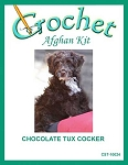 Chocolate Tux Cocker Crochet Afghan Kit