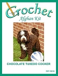 Chocolate Tuxedo Cocker Crochet Afghan Kit